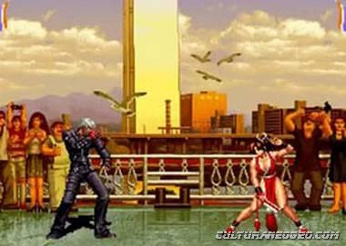 De izquerda a derecha, captura de Fight Fever y the King of Fighters